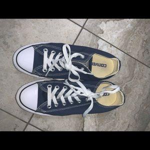 Navy Blue Converse size 7
